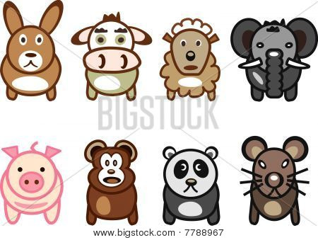 rabbit cow sheep elephant pig bear cola rat
