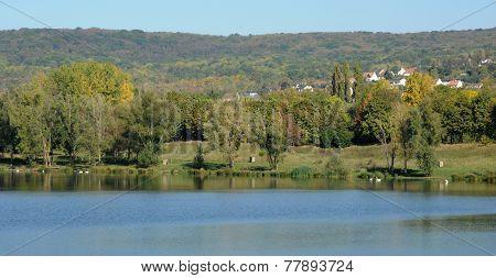 France, Etang Des Cerisaies In Vernouillet In Les Yvelines