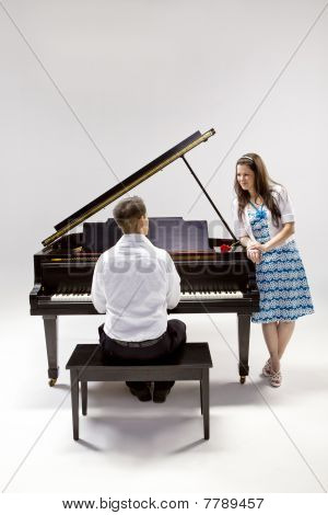 Couple With Grand Piano 2