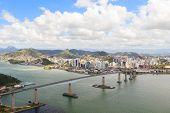 Third bridge (Terceira Ponte) view of Vitoria Vila Velha bay from Morro do Morena Espirito Santo Brazil poster