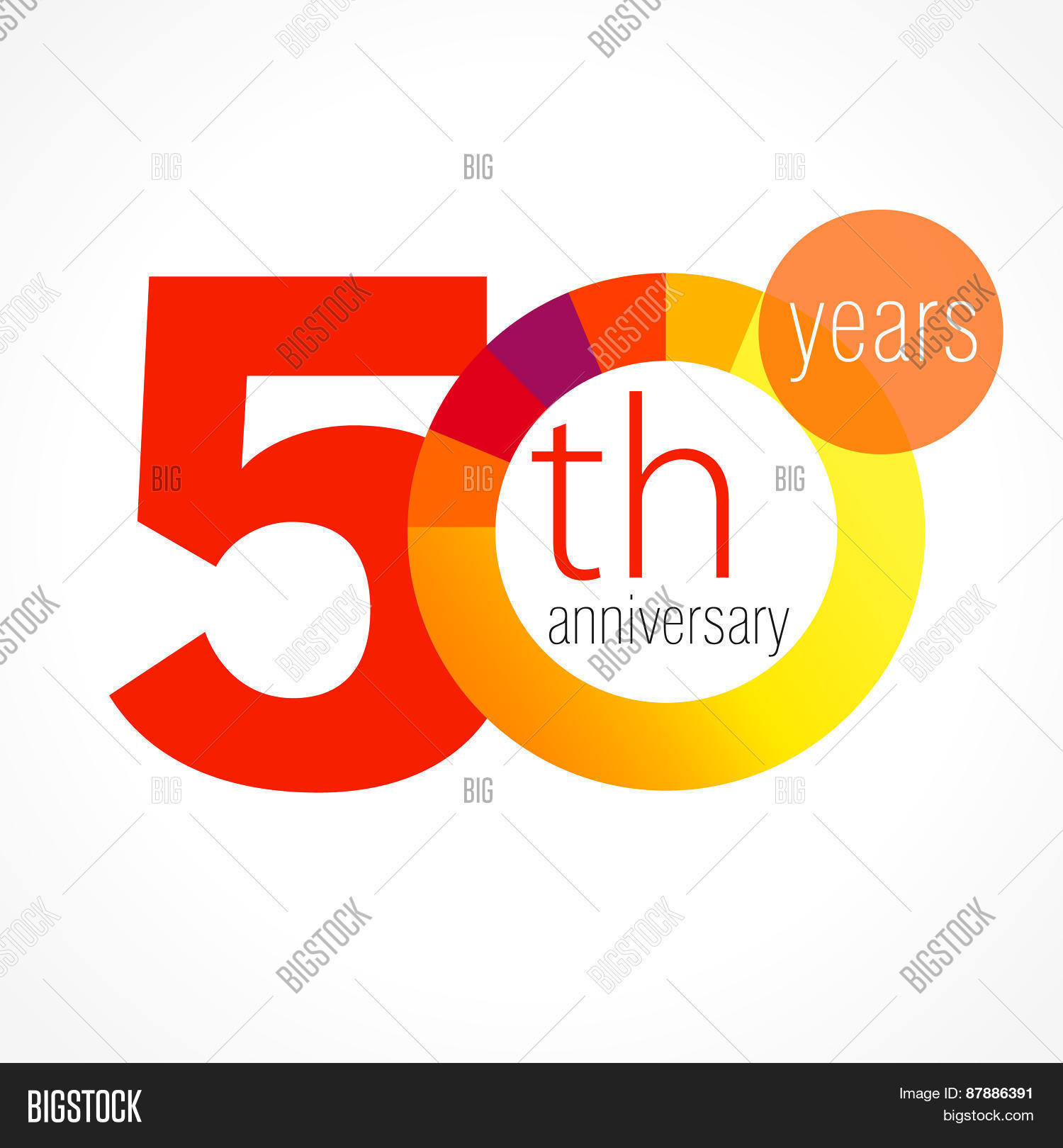 50 Years Old Round Vector Photo Free Trial Bigstock