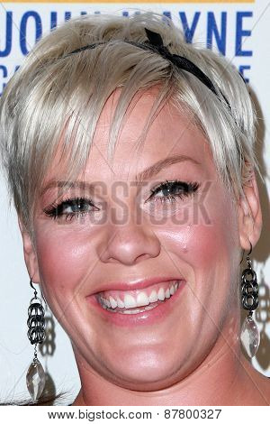 LOS ANGELES - FEB 11:  Pink at the 30th Annual John Wayne Odyssey Ball at the Beverly Wilshire Hotel on April 11, 2015 in Beverly Hills, CA