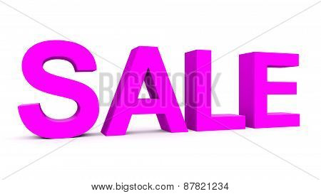 Sale - Purple 3D Letters Isolated On White