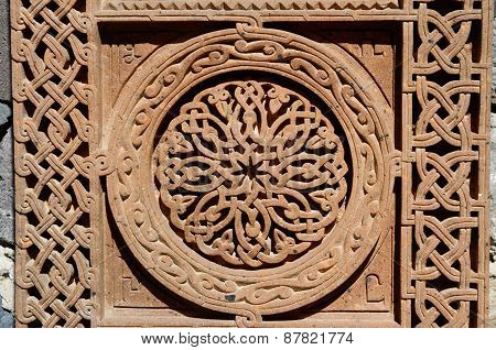 Ornamental Knotworks Of Armenian Cross Stones - Khachkars,medieval Christian Art,unesco Heritage