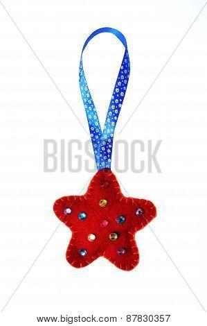 Christmas Red Star Of Felt