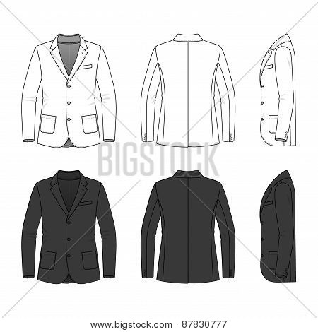 Simple Outline Drawing Of A Blazer
