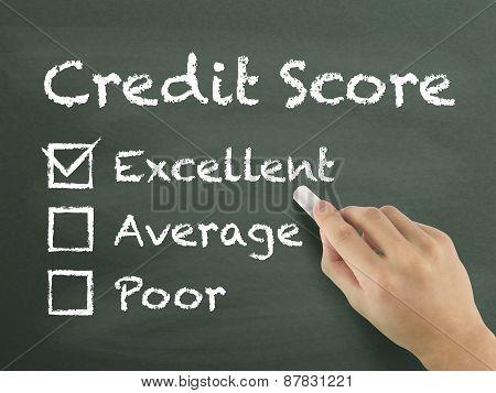 Credit Score Survey Written By Hand
