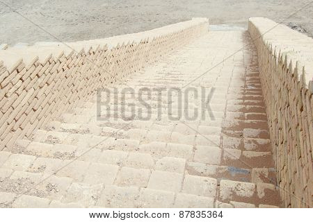 Stairs In Ziggurat Of Ur