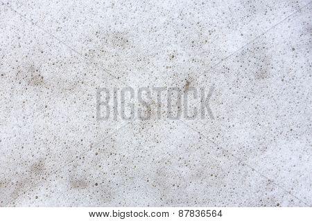 White foam background