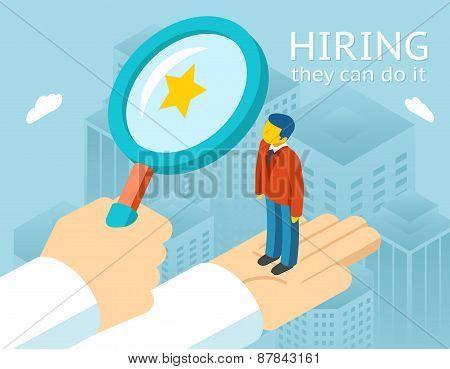 Choosing person for hiring