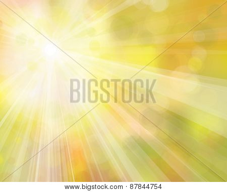 Vector yellow sunshine background.