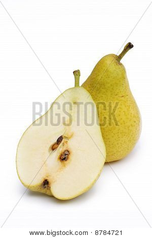 One And Half Of Tasty Pear