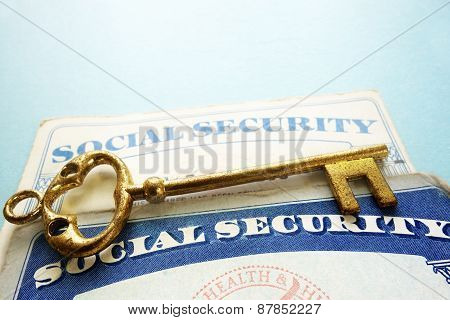 Social Security Cards And Key