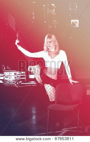 Sexy Girl Dancing In The Nightclub