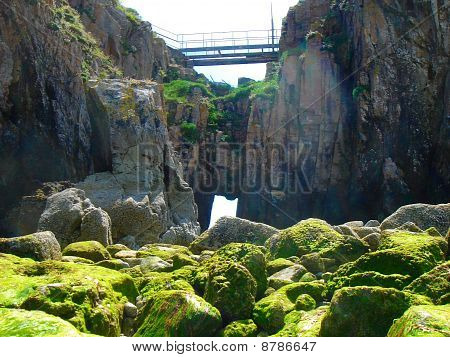 Seascape Cave With Bridge