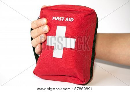 First Aid Kit With Hand - English Tittle