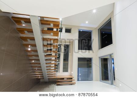 Entry To Modern Luxurious Mansion