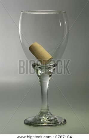 Wine Glass Satisfaction Concept