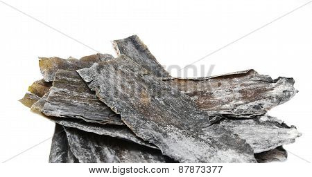 Dried leaves of brown seaweed Dashi Kombu poster