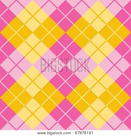 Argyle in Pink and Yellow