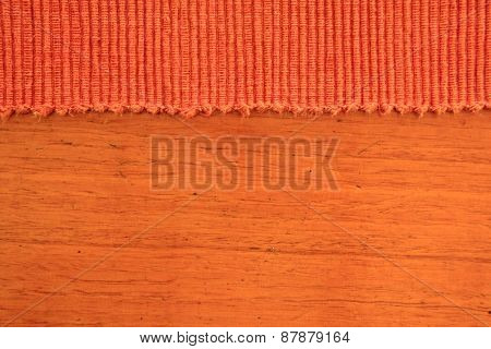 Abstract Rust Colored Fabric and Timber Background 1