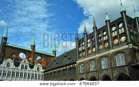 Lübeck: City Hall and Market Square