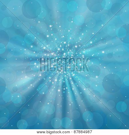 Blue Shimmering Background