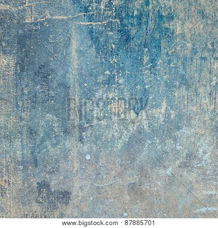 Blue Grunge Texture Square