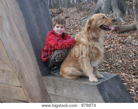 Boy Wth A Dog