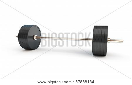 Weightlifting On White Background
