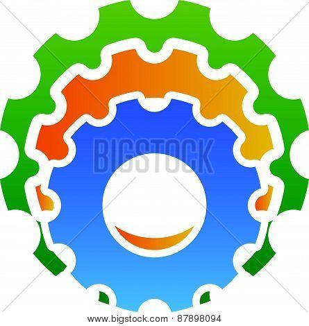 Various Gear Wheel, Rack Wheel Vector Graphics. Mechanics, Manufacturing, Industrial Or Maintenance,