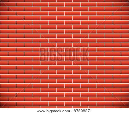 Seamless Pattern Of Dark Brickwork, Brick Wall. Repeatable. Construction, Revetment, Firewall Patter