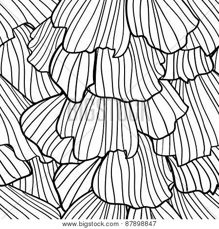 Doodle Abstract Frills. Seamless Pattern.
