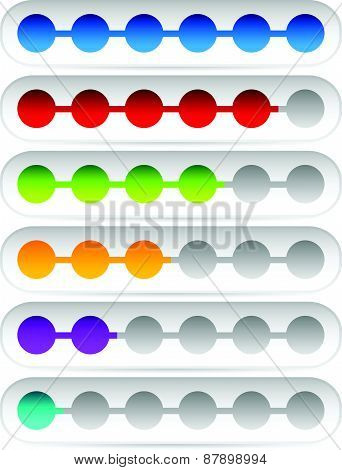 Horizontal Progress Loading Bars. Meters Level Indicators. poster