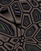 abstract fractal image resembling cells under a microscope poster