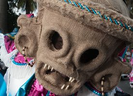 Photo Of Demon Mask In The Carnival Of Santo Domingo