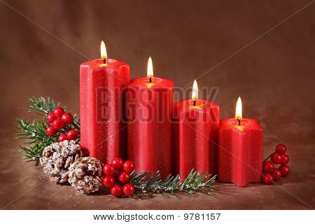 Red christmas candles