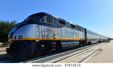 Caltrans and Amtrak California Logos