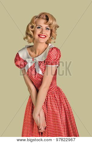 merry retro pinup woman