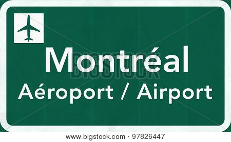 Montral Canada International Airport Highway Sign