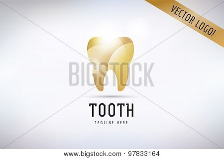 Tooth Icon vector logo template. Health, medical or doctor and dentist office symbols. Oral care, de