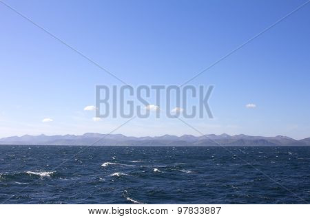 The Pacific Ocean. Commander Islands