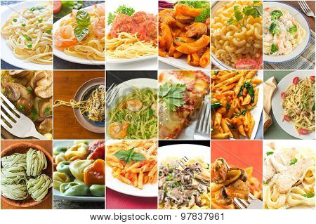 Pasta Food Collage
