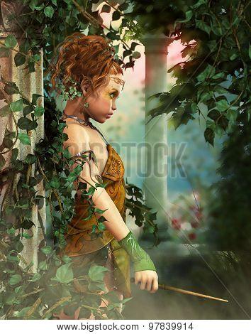 Little Fairy With A Wand, 3D Cg