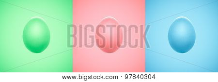 Bright Colorful Easter Eggs Isolated
