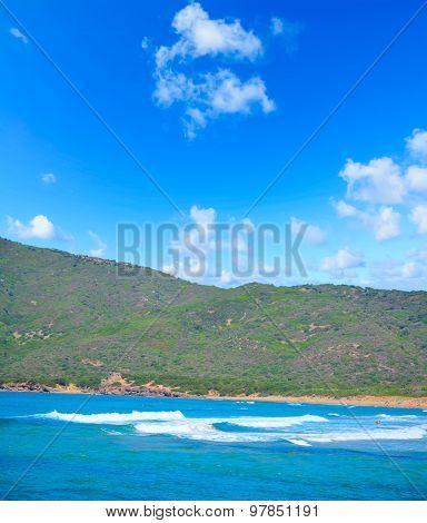 Porto Ferro Shoreline On A Clear Summer Day
