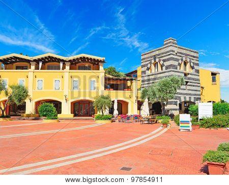 Beautiful Square In Porto Cervo