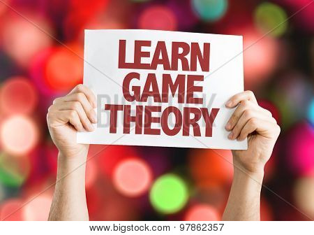 Learn Game Theory card with bokeh background