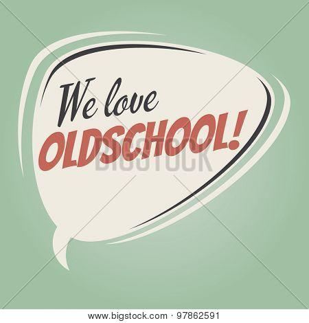 oldschool retro speech balloon