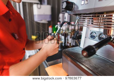 Bartender Making Coffee